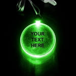 LED Pendant- Green Circle