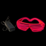EL Wire Stunner Shades, Red