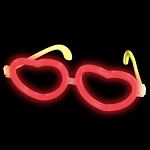 Glow Glasses - Red Heart
