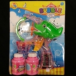 Green Alligator Bubble Gun - 2 Bottles
