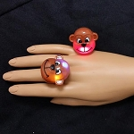 Flashing Jelly Monkey Ring