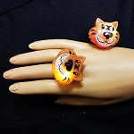 Flashing Jelly Tiger Ring