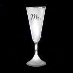 Light Up Champagne Cup: White- Mr.