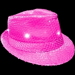 Flashing Fedora- Neon Pink