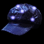 Newsboy Hat Blue with LED lights