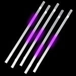 Purple Glow Straw (25-Pack)