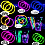 Ultimate Glow Bracelet Party Pack- 100pack: Version 1