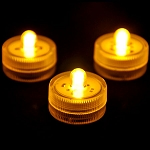 Yellow Waterproof Tea Lights-12 Pack