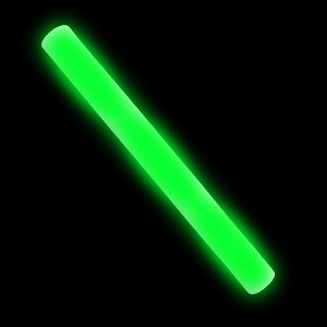 "16"" LED Flashing Foam Baton - Green"