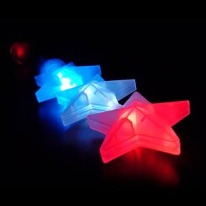 Triple Star Wand- Red/White/Blue