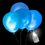 Light-Up Blue Balloons, White Light with Blue Balloons (5-pack)