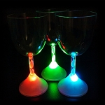 Flashing 10 oz. Wine Glass Red/Green/Blue