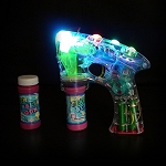 Flashing Bubble Gun- w/ 2 Bubble Bottles