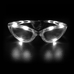Flashing Sunglasses- White