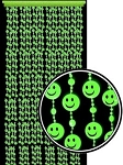Glow in the Dark Smiley Faces Beaded Curtain