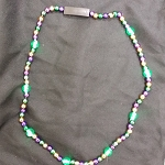 Purple/Green/Gold LED Beads Necklace