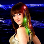 LED Light Up Ribbon Hair Extension - Multicolor