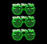 Happy New Years Shutter Glasses - Green