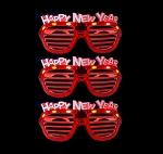 Happy New Years Shutter Glasses - Red