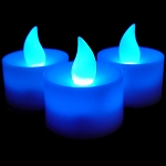 LED Flicker Candles- Blue
