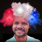 Light Up Patriotic Wig (Red/White/Blue)