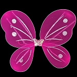 LED Flashing Butterfly/Fairy Wings - Magenta