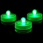 Green Waterproof Tea Lights-12 Pack