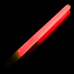 "10"" Red Concert Glow Wand (24-Pack)"