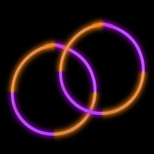 "22"" Bi-Glow Necklaces - Purple/Orange/Purple/Orange (50-Pack)"