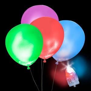 Light-Up RGB Balloons, RGB Light with White Balloons (5-pack)