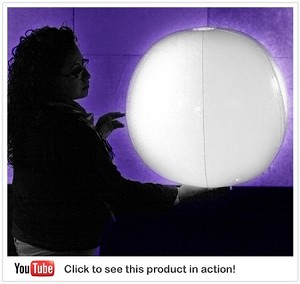 "24"" Diameter Giant Light-Up Beach Ball: White"