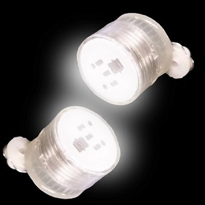 Blinking LED Earrings - White