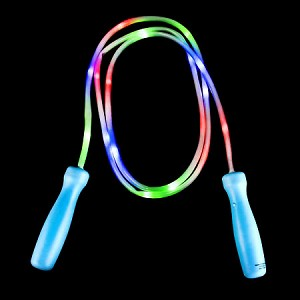 "100"" Light Up Jump Rope - Blue with Green Handles"