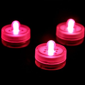Pink Waterproof Tea Lights-12 Pack
